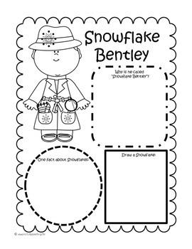 Snowflake Bentley Comprehension Packet