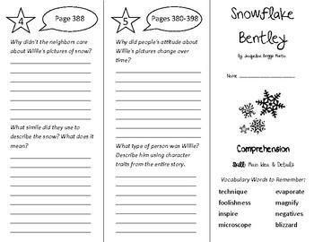 Snowflake Bentley Trifold - Treasures 4th Grade Unit 3 Week 5 (2009)