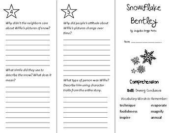 Snowflake Bentley Trifold - Treasures 4th Grade Unit 6 Week 4 (2011)