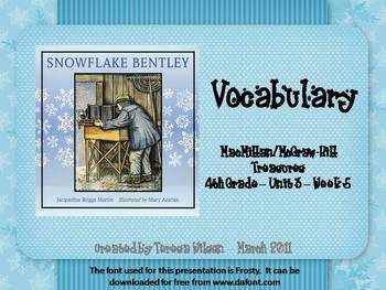 Snowflake Bentley - Vocabulary