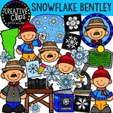 Snowflake Bentley: Winter Clipart {Creative Clips Clipart}