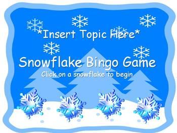 Snowflake Bingo Template