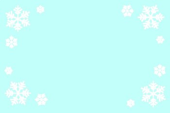 Snowflake Blue Blank Editable Labels Flashcards