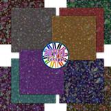 Snowflake Bokeh Digital Paper Backgrounds