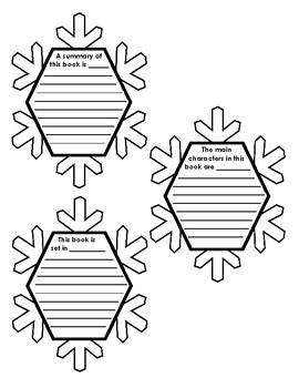 snowflake book report template  Snowflake Book Report