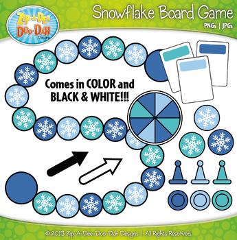 Snowflake Build A Board Game Clipart {Zip-A-Dee-Doo-Dah Designs}