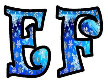 Snowflake Bulletin Board Letters