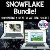 Snowflake Bundle! 3D Printing and Water Cycle Creative Writing