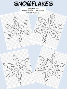 Snowflake Bundle Mystery Pictures  (with 4-Quadrants)