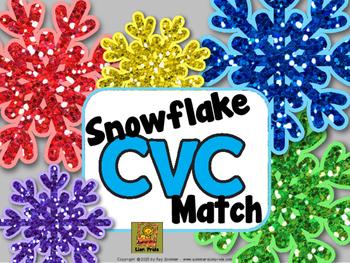 CVC Words Match {Snowflake}