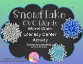 Snowflake CVC Words Literacy Center Activity