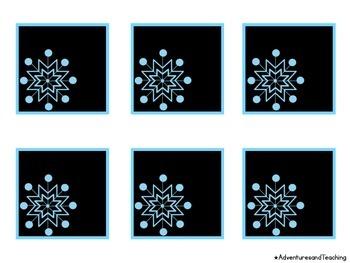 Snowflake Calendar Numbers {Black}