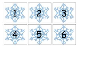 Snowflake Calendar Pieces