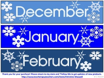 Snowflake Calendar Pieces   Make Different Monthly Patterns