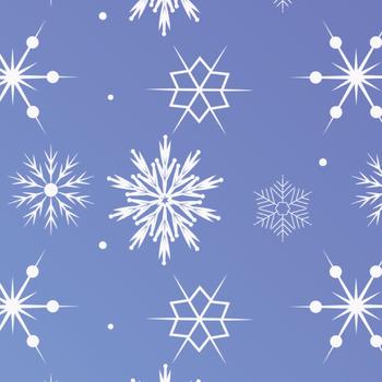 Snowflake Clip Art Digital Papers
