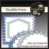 Snowflake Clip Art Frames FREEBIE!