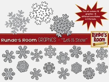 Snowflake Clip Art - Let it Snow!