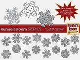 Snowflake Clip Art - Let it Snow!