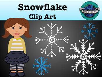 Snowflake Clip Art Package