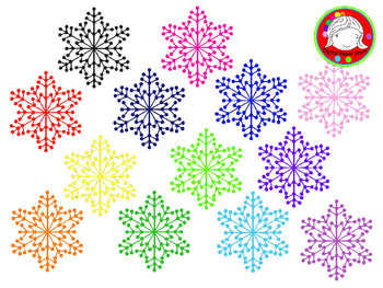 Snowflake Clipart (Personal & Commercial Use)