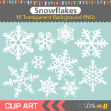 Snowflake Clipart, White Snowflake Clip Art, Winter Clipart