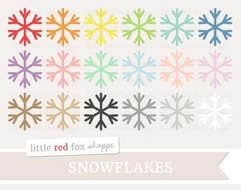 Snowflake Clipart; Winter, Christmas, Holiday