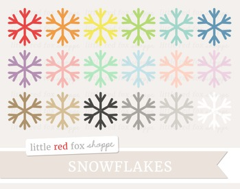 Snowflake Clipart; Winter