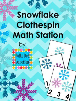 Snowflake Clothespin Math Station