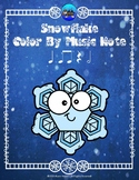 Snowflake Color By Music Note Rhythm Coloring - Half Note
