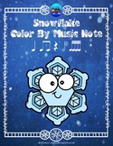 Snowflake Color By Music Note Rhythm Coloring - Sixteenth Notes