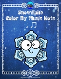 Snowflake Color By Music Note Rhythm Coloring - Quarter Note/Eighth Note