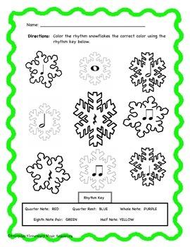 Winter Snowflake Color By Rhythm!