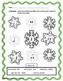 Winter Snowflake Color By Rhythm Set!