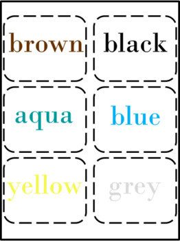 Snowflake Color Match with Color Names