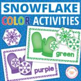 Snowflakes Activities | Color Sort Activity | Preschool Winter Activities
