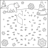 Snowflake Connect the Dots and Coloring Page, Non-CU