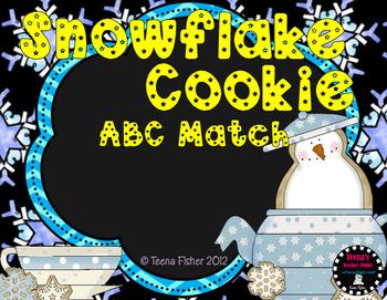 K1d Preschool Snowflake Cookie ABC Match Kindergarten Common Core RFK1d