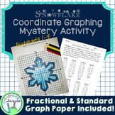 Snowflake Coordinate Graphing Mystery Activity (4 quadrants)