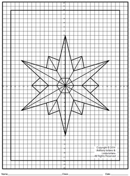 Snowflake, Coordinate Graphing, Ordered Pairs, Mystery Picture