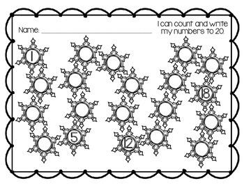 Snowflake Count to 20 Printable *FREEBIE!*