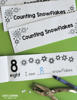 Snowflake Counting 1-10 Interactive Hole Punch Counting Books