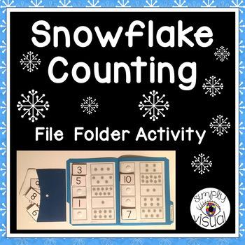 Snowflake Counting File Folder for Pre-K, Kindergarten, Sp