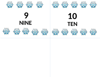 Snowflake Counting & Number Recognition Cards