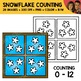 Snowflake Window Counting Scene Clipart