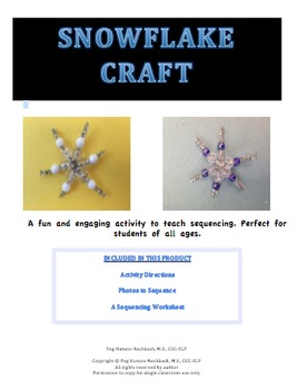 Snowflake Craft: Sequencing and Retelling