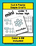 Snowflake - Cut & Paste Craft - Mini Craftivity for Pre-K
