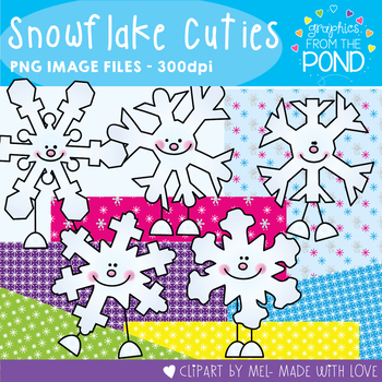 Snowflake Cuties - Winter Clipart Set for Teachers