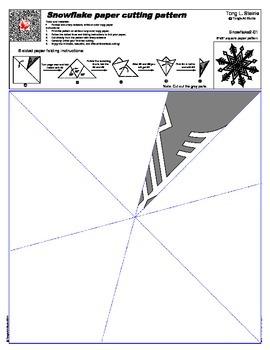 Snowflake Cutting Pattern 2 - 16 True Sized Patterns