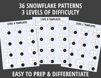 Snowflake Templates for Winter Fine Motor Practice |  Snowflake Scissor Skills