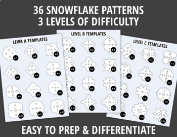 Snowflake Templates for Winter Fine Motor Practice    Snowflake Scissor Skills